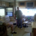 Bobby & Tim in the Walkers' RV