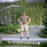 Straddling the Yukon Territory and Alaska on a single bench!