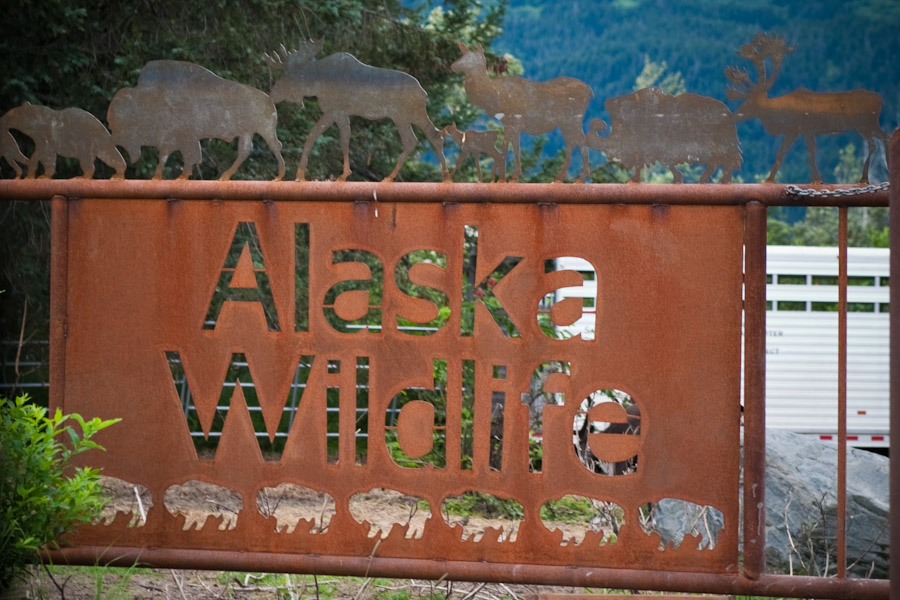 Alaska Wildlife Conservation Center...part of their sign