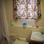 funky floral bathroom curtains
