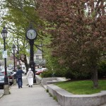sweet old clock off Bar Harbor's town square