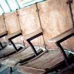 fabulous old wooden theater seats