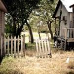 broken-down fence