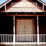 geometry in door, porch, and roof