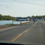 entering Machias...estuary on the left