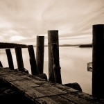 sepia pilings...love this!