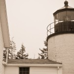 Bass Harbor Head Light in sepia