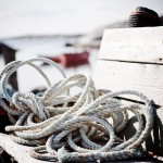 nautical rope with boats in the background
