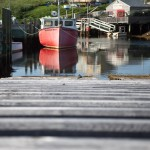 wooden ramp in Peggy's Cove