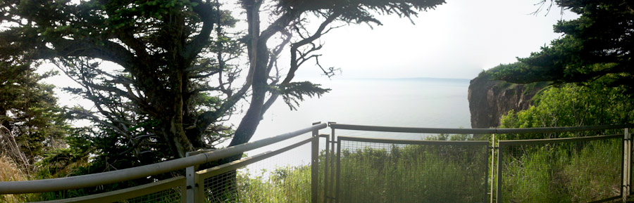 Bay of Fundy panorama, photo by Tim