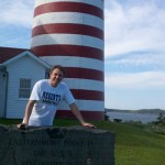 Tim at the easternmost point in the U.S.